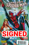 Amazing Spider-Man Vol 3 #1 Cover Z-J DF Gold Signature Series Signed By Humberto Ramos & Edgar Delgado