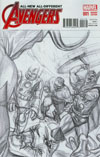 All-New All-Different Avengers #1 Cover H Incentive Alex Ross Vintage Sketch Variant Cover