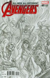 All-New All-Different Avengers #1 Cover I Incentive Alex Ross Sketch Cover