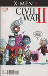 Civil War II X-Men #1 Cover D Variant Skottie Young Baby Cover