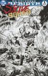 Suicide Squad Vol 4 #1 Cover C Midtown Exclusive Tyler Kirkham Black & White Variant Cover