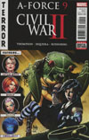 A-Force Vol 2 #9 Cover A Regular Paulo Siqueira Cover (Civil War II Tie-In)