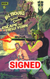 Big Trouble In Little China Escape From New York #1 Cover H Regular Snake Plissken Foreground Cover Signed By Greg Pak