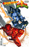 Justice League Power Rangers #1 Cover D Variant Yasmine Putri Flash Black Ranger Cover