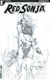 Red Sonja Vol 7 #1 Cover H Incentive Giuseppe Camuncoli Black & White Cover