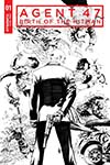 Agent 47 Birth Of The Hitman #1 Cover D Incentive Jonathan Lau Black & White Cover