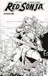 Red Sonja Vol 7 #11 Cover H Incentive V Ken Marion Black & White Cover