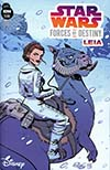 Star Wars Adventures Forces Of Destiny Princess Leia Cover A Regular Elsa Charretier Cover