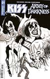 KISS Army Of Darkness #1 Cover D Incentive Kyle Strahm Black & White Cover