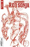 Legenderry Red Sonja Vol 2 #1 Cover E Incentive Joe Benitez Blood Red Cover