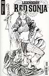 Legenderry Red Sonja Vol 2 #2 Cover B Incentive Joe Benitez Black & White Cover