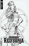 Legenderry Red Sonja Vol 2 #3 Cover B Incentive Joe Benitez Black & White Cover