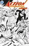 Action Comics Vol 2 #1000 Cover S DF Exclusive Dan Jurgens Wraparound Black & White Variant Cover