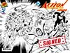 Action Comics Vol 2 #1000 Cover X DF Exclusive Dan Jurgens Wraparound Black & White Variant Cover Gold Signature Series Signed By Dan Jurgens