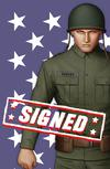 Captain America Vol 9 #1  Midtown Exclusive John Tyler Christopher Cover J 9-Cover Set With One Book Signed By Ta-Nehisi Coates