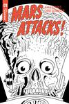 Mars Attacks Vol 4 #1 Cover K Incentive Chris Schweizer Subscription Black & White Cover