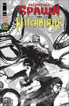 Medieval Spawn Witchblade Vol 2 #4 Cover B Variant Brian Haberlin Black & White Cover