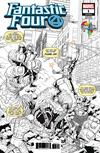 Fantastic Four Vol 6 #1 Cover Z-F Comic Con Africa Exclusive Will Sliney Black & White Variant Cover