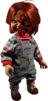 Mezco Designer Series Childs Play 3 15-Inch Talking Pizza Face Chucky