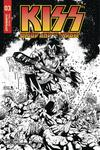 KISS Blood And Stardust #3 Cover E Incentive Rodney Buchemi Black & White Cover