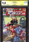 Avengers Vol 7 #1  Midtown Exclusive Clayton Crain Variant Cover Signed And Spider-Man Sketch By Clayton Crain CGC 9.8