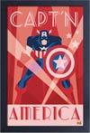 Captain America Framed 11x17 Print - Art Deco