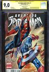 Avenging Spider-Man #1 Cover R Incentive J Scott Campbell Variant Cover Signed By J Scott Campbell CGC 9.0
