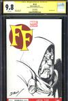 FF Vol 2 #1 Cover G Variant Mark Bagley Hand-Drawn Sketch Cover CGC 9.8