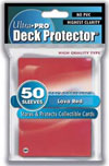 Ultra Pro Gaming Solid Deck Protector Red