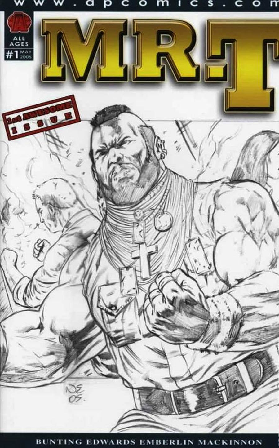 Mr T #1 Cover B Incentive Neil Edwards Sketch Variant Cover