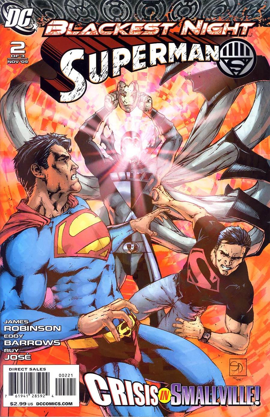 Blackest Night Superman #2 Cover B Incentive Shane Davis Variant Cover