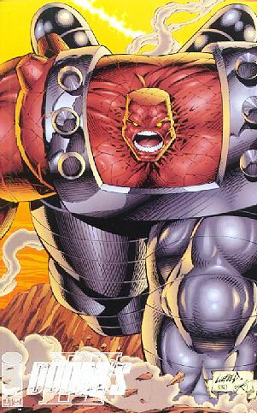 Dooms IV #1 Variant Rob Liefeld Brick Cover