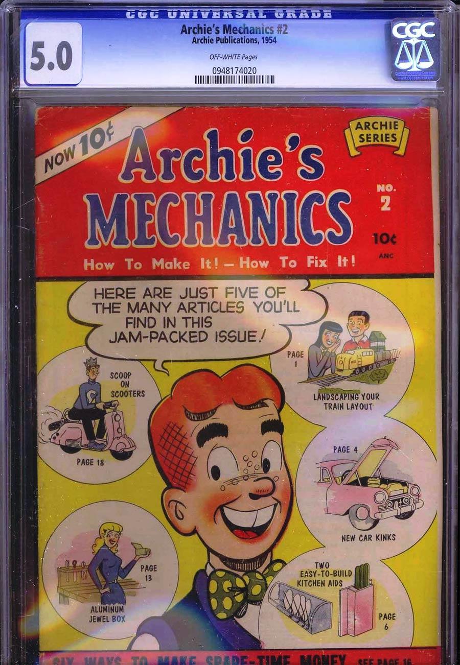 Archies Mechanics #2 CGC 5.0