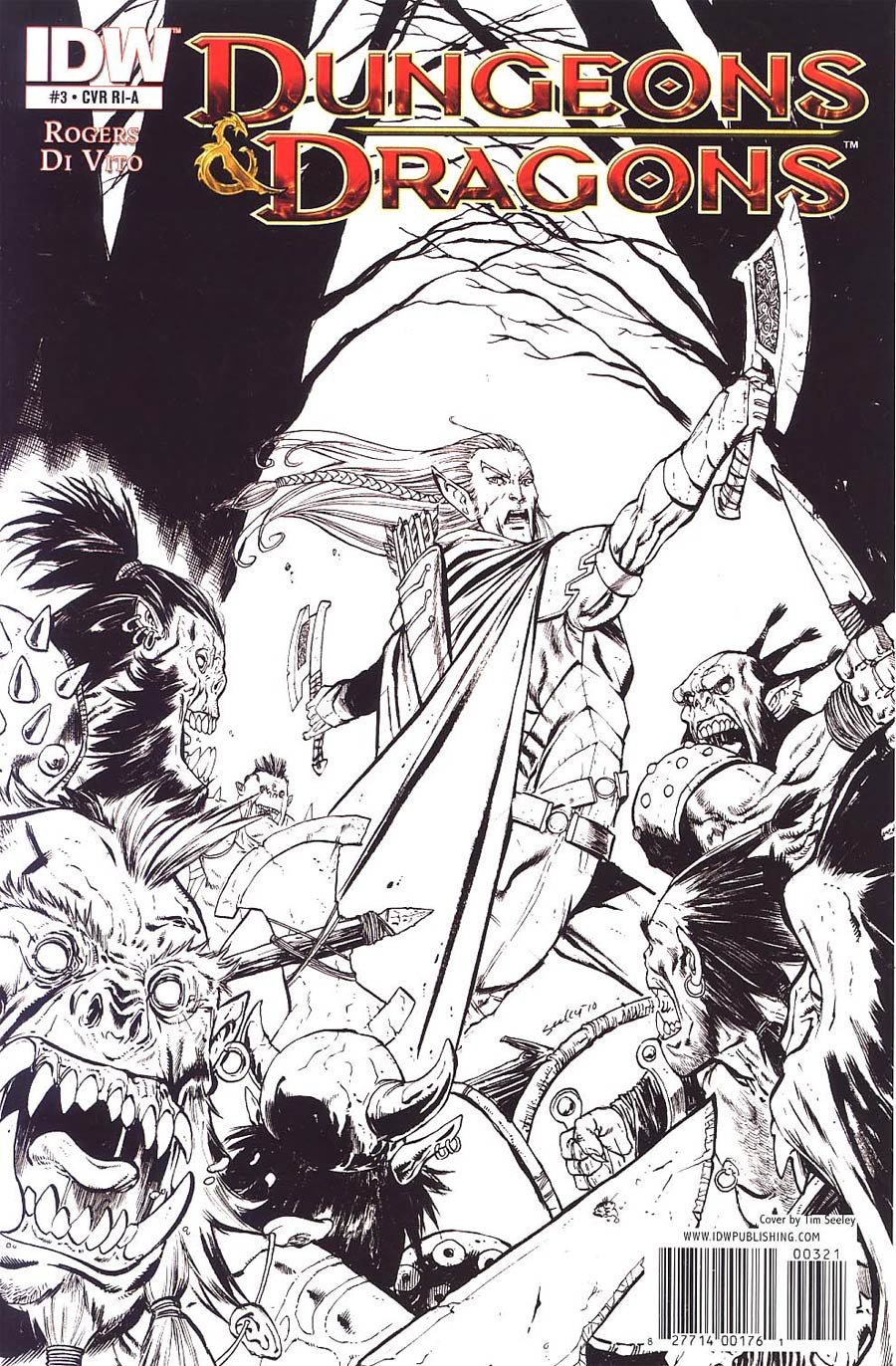 Dungeons & Dragons #3 Cover C Incentive Tim Seeley Sketch Cover
