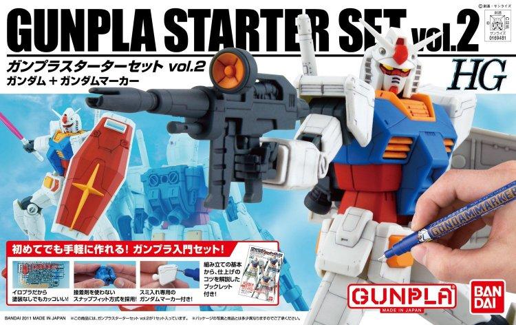 Gundam High Grade Universal Century 1/144 Kit - Gunpla Starter Set - Vol 2 Gundam G30th Anniversary w/Gundam Marker
