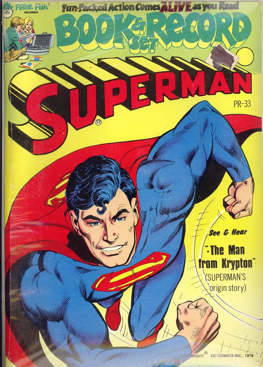 Power Record Comics #33 Superman Golden Age Origin (Peter Pan Record Re-Issue) With Record