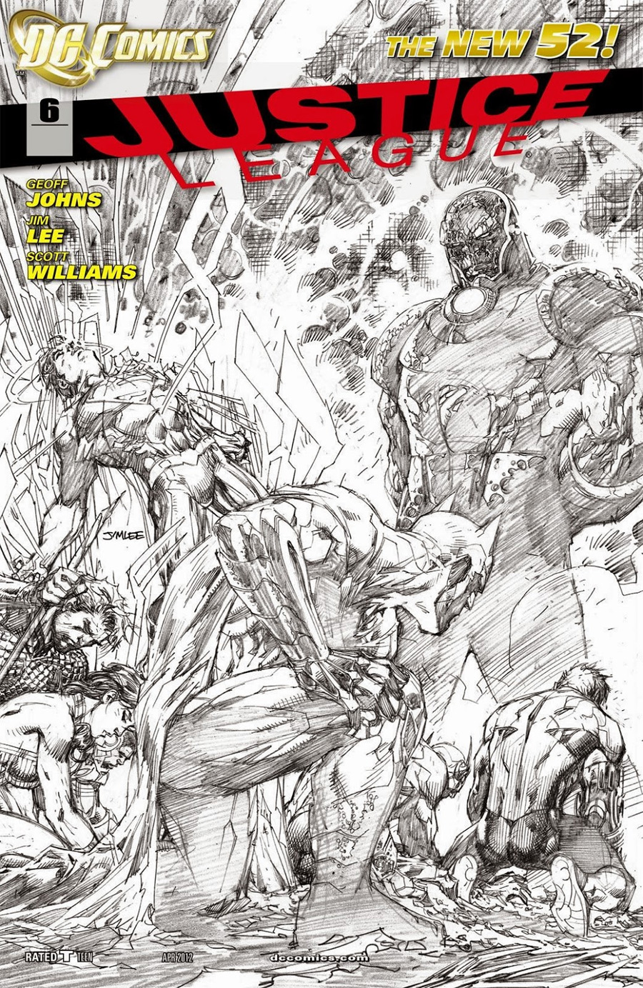 Justice League Vol 2 #6 Incentive Jim Lee Sketch Cover