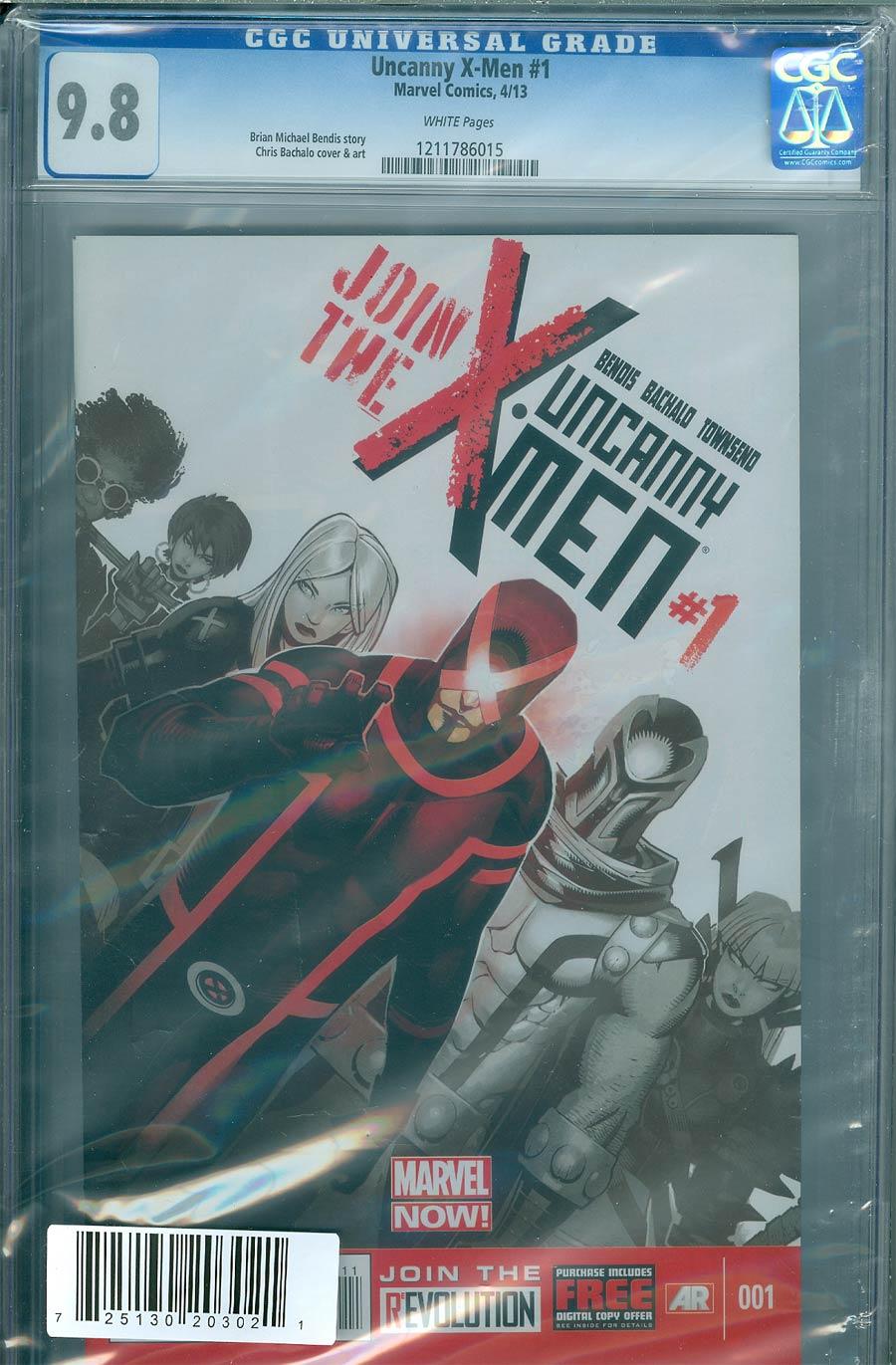 Uncanny X-Men Vol 3 #1 Cover H DF Regular Chris Bachalo Cover CGC 9.8