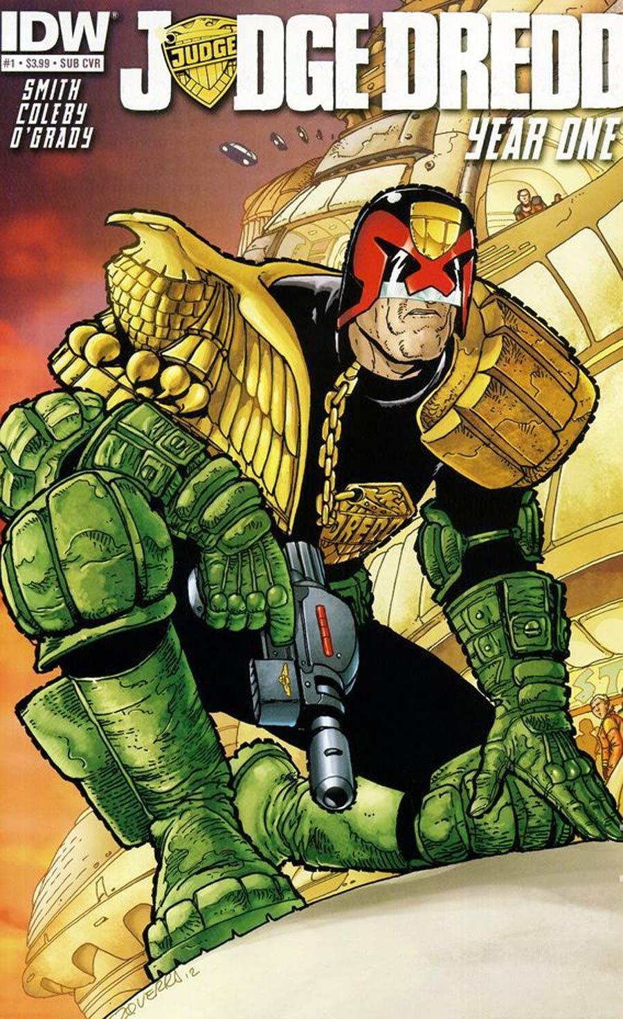 Judge Dredd Year One #1 Variant Carlos Ezquerra Subscription Cover
