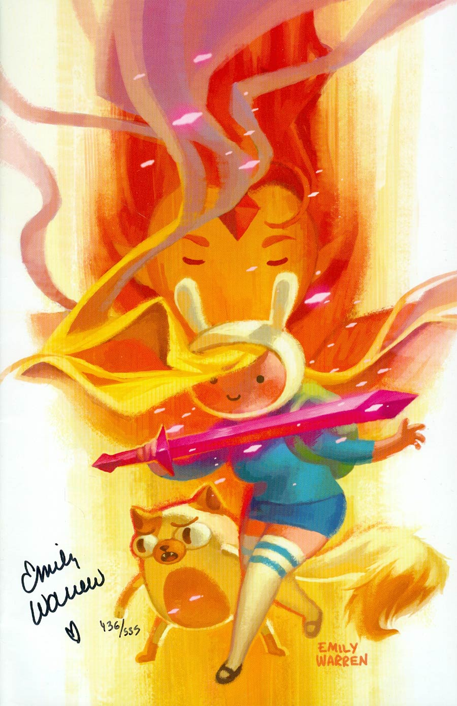 Adventure Time Fionna & Cake #1 Cover G DF Signed By Emily Warren