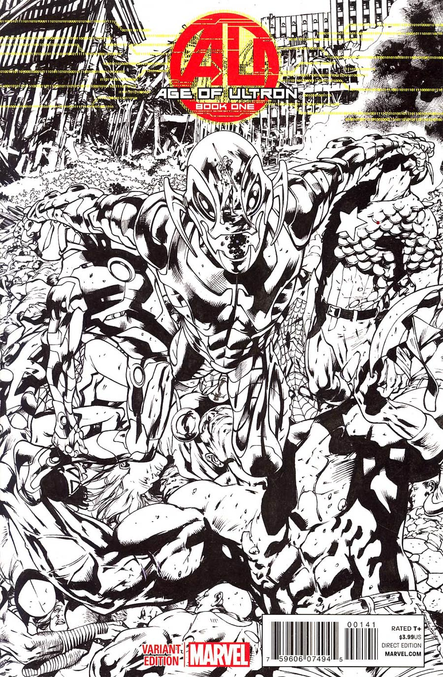 Age Of Ultron #1 Cover F Incentive Bryan Hitch Sketch Cover