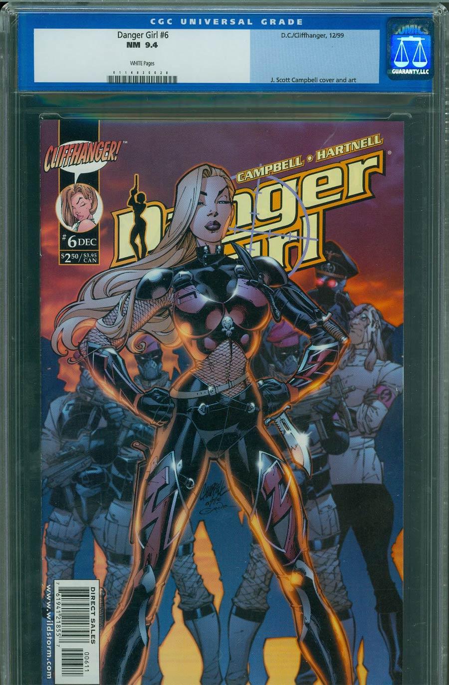 Danger Girl #6 Cover D Regular J Scott Campbell Cover CGC 9.4