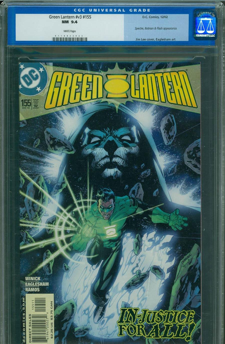 Green Lantern Vol 3 #155 Cover B CGC 9.4