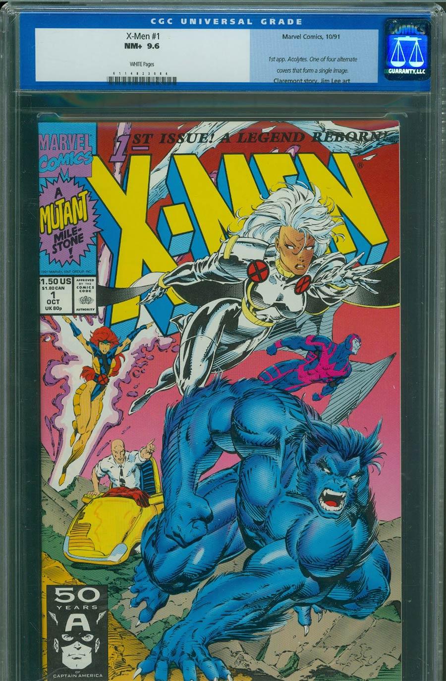 X-Men Vol 2 #1 Cover H Beast/Storm CGC 9.6