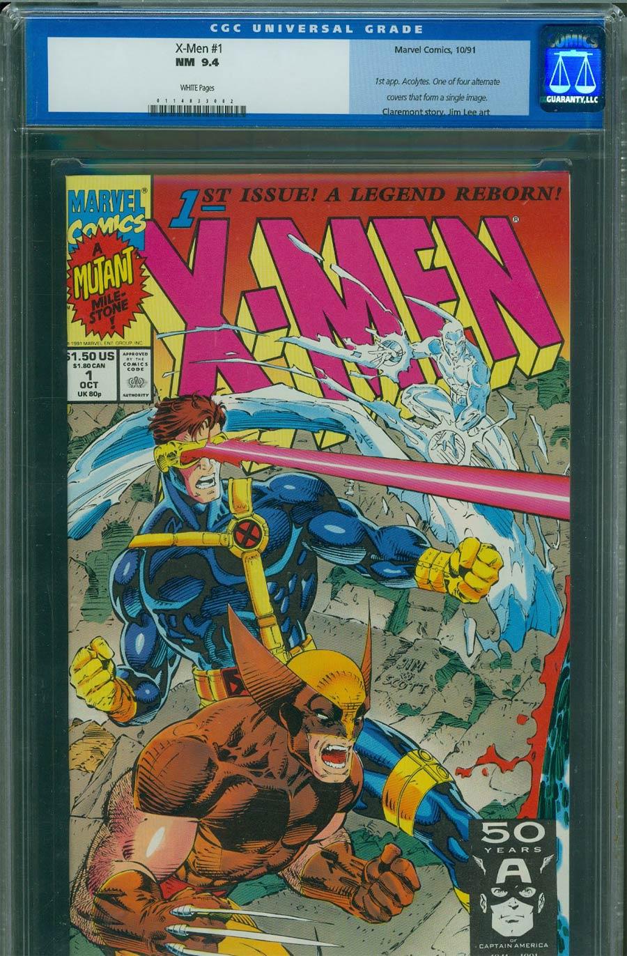 X-Men Vol 2 #1 Cover L Cyclops/Wolverine CGC 9.4
