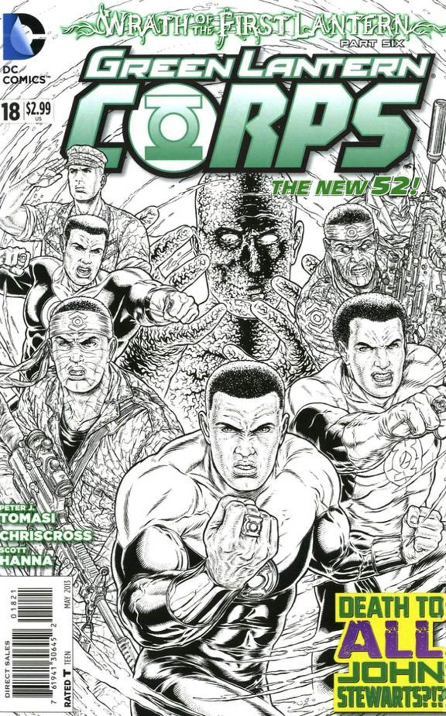 Green Lantern Corps Vol 3 #18 Cover B Incentive Juan Jose Ryp Sketch Cover (Wrath Of The First Lantern Tie-In)