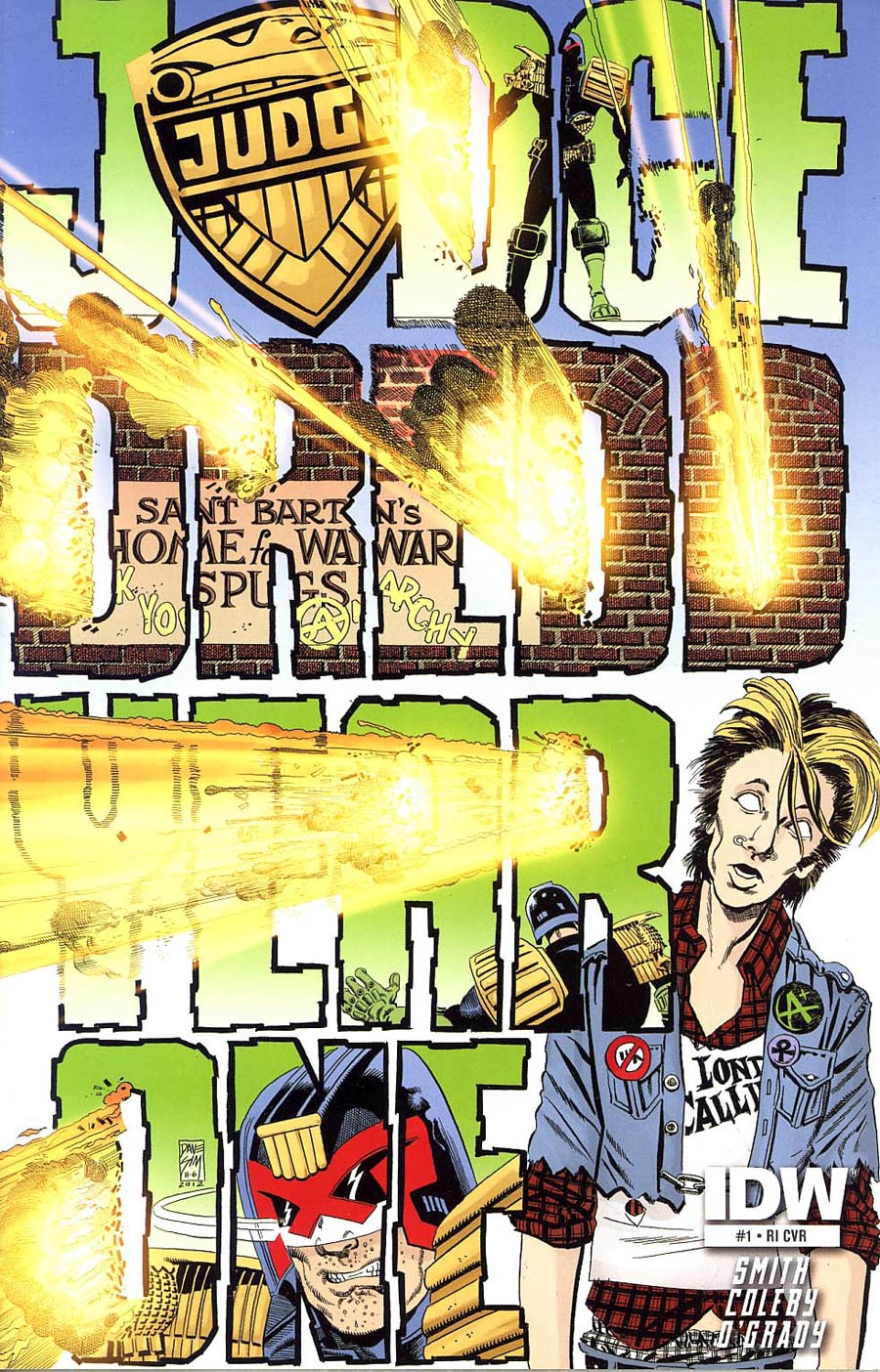 Judge Dredd Year One #1 Incentive Dave Sim Variant Cover