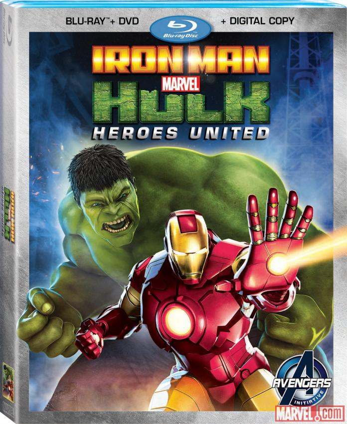 Marvel Iron Man And Hulk Heroes United Blu-ray Combo DVD