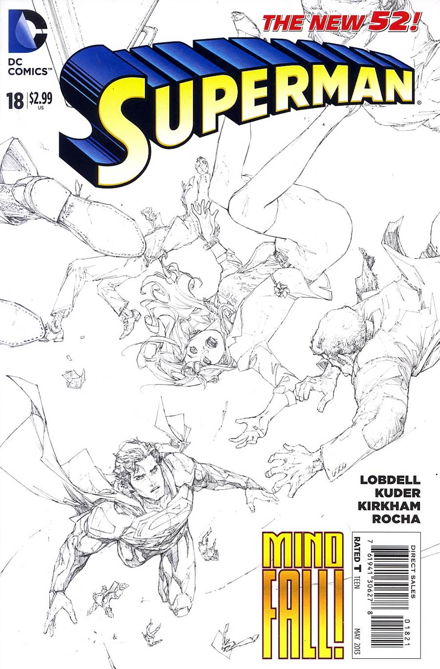 Superman Vol 4 #18 Incentive Kenneth Rocafort Sketch Cover
