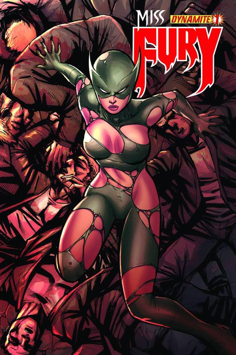Miss Fury Vol 2 #1 Cover F Incentive Ale Garza Risque Variant Cover